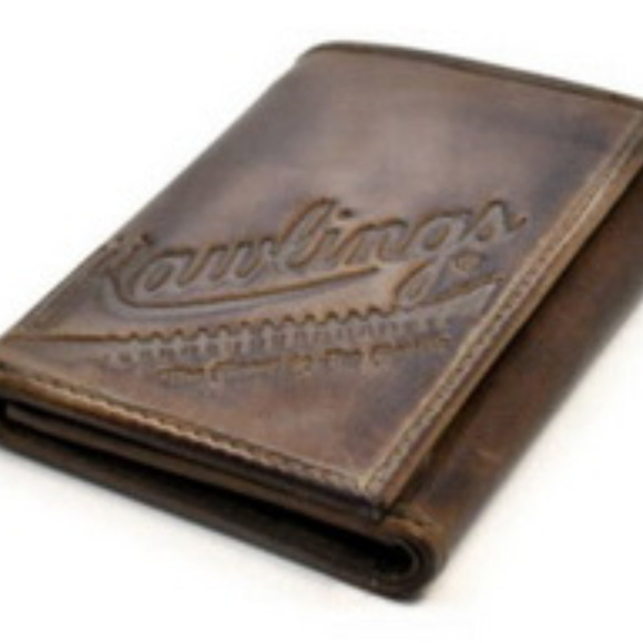 Rawlings Other - Rawlings Fielder's Choice leather Tri Fold Wallet